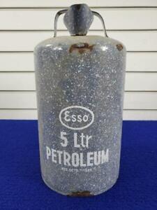 VINTAGE ESSO 5 LITER PETROLEUM GAS CAN
