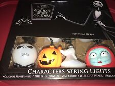Disney The NIGHTMARE BEFORE CHRISTMAS CHARACTERS 8 MUSICAL LED STRING LIGHTS New