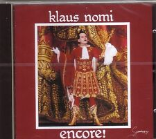 CD (NEU!) . Best of KLAUS NOMI (Total Eclipse The Cold Song Ding Dong mkmbh