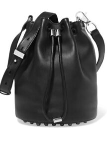 Alexander Wang Genuine Black Leather Bag - Pre Owned