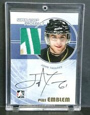 2009 John Tavares 1/1 ITG In The Game 3CLR Rookie Patch Auto RC Maple Leafs
