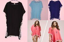 5 Pcs Wholesale Bulk Lot Kaftan Women'S Top Tunic Beach Party Wear Poncho M-3X