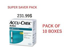 10 BOX -Accu-Chek Active 100 Test Strips -Exp FEB 2021 FAST DELIVERY TO THAILAND