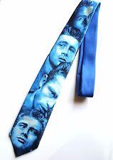 Vintage James Dean Tie 1991 Ralph Marlin Mens Necktie Faces Blue Polyester