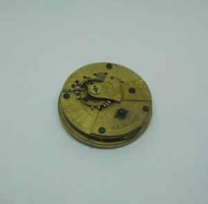 FB Adams of Liverpool Lever Fusee pocket watch Movement 45.95mm spares