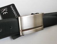 Rindleder Herrengürtel Koppelschließe schwarz 35 mm -95 cm lang HGLI723