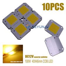 100W COB LED 40x46mm warm white LED Chip Source for Flood Light DC12V 10PCS