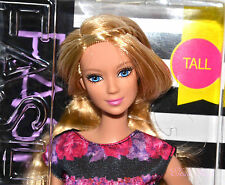EVOLUTION 2016 BARBIE DOLL FASHIONISTAS 28 FLORAL FLAIR TALL BLONDE LEA FACE