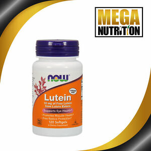 NOW Foods Lutein Esters 10mg 120 Softgels   Promotes Macular Health Eye