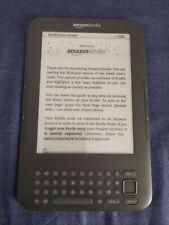 Amazon Kindle Keyboard 3G D00901 (3rd Gen) WiFi+3G, case, New Battery, No Ads