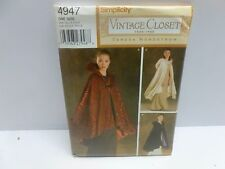 Simplicity Womens Historical Victorian Opera Cape Cloak Costume Pattern 4947