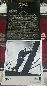 "2 PAC ""ME AGAINST THE WORLD"" press kit 1995 TUPAC SHAKUR Glossy photo bio RARE"
