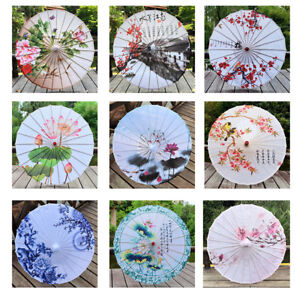 Silk Oil Paper Umbrellas Old Chinese Japanese Parasol Cosplay Dance Decor Gifts