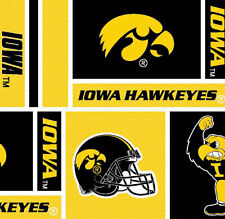 Cotton University of Iowa Hawkeyes College Fabric Print by the Yard D663.39