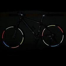 Fahrrad Aufkleber Reflektor Felgenaufkleber Warnaufkleber Sticker 6 Farben
