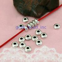 100Pcs Glossy Spacer Beads Metal Spacer Flat bead For Jewelry Makings Wholesale