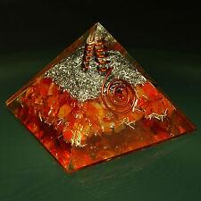 Pyramid Mixed Gemstone Orgone Energy Generator Reiki Spiritual Chakra