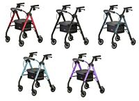 Nova Star 6 Foldable Rolling Mobility Walker Rollator - 5 COLOR CHOICE NEW