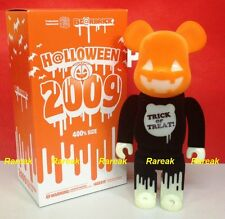 Medicom Be@rbrick 2009 Halloween TRICK or TREAT 400% Flocked GID Bearbrick 1pc