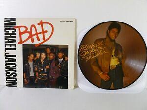 2 MICHAEL JACKSON 33 RPM RECORDS - PICTURE LP -, BAD