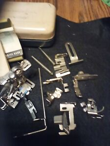 Lot of 10 Vintage  Long Shank Sewing Machine Attachments Feet