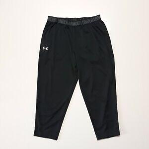 Under Armour Women's Black Loose Yoga Capri Pants Athletic Gym Wear Sz Medium