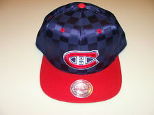 Montreal Canadiens Cap Hat Snapback Hockey Mitchell Ness Unfield NHL Checkered