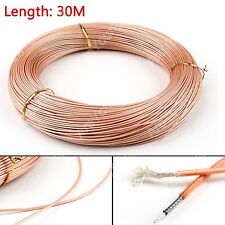 30m RG178 RF Coaxial Cable Connector 50ohm M17/93-RG178 Coax Pigtail 98ft