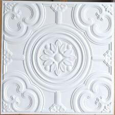 Ceiling tiles Faux tin white matt decor Barber saloon wall panel PL50 10pcs/lot