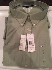 Tommy Hilfiger Dress Shirt Long Sleeve Regular Fit Button Down Collar Size XL
