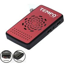 TEMPO CA 410HD Démodulateur satellite FTA CA carte reader Récepteur par parab