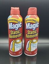 Lot of 2 Magic Static Remover Fresh Scent 6 oz (170g)