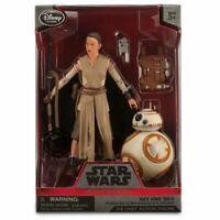 "Disney Store Star Wars Force Awakens Rey BB-8 Elite Series Figure 6"" NIB"