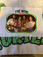 Vintage The Who Iron-On Transfer English Rock Band Glitter NOS