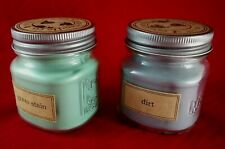 Grass & Dirt Scented Eco Candle Co. Soy Wax Mason Jar Candles 8 Oz.