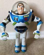 "Disney Pixar  Buzz Lightyear 12"" Talking Light Up RARE Blue/Black 2001"
