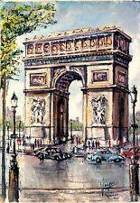 Arte antiguo tarjeta postal-Pedro Vargas-parís-arc de triomphe