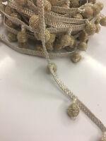 Fancy fringe tassel stone  Bridal Lace Trim Sewing On Craft Wedding Sari 1 METER