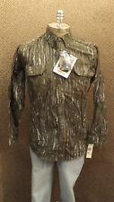 Vtg NEW Walls Realtree Camo Hunting Shirt  Cotton Chamois NOS sz L Tall USA Made