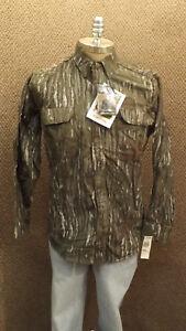 Vtg NEW Walls Realtree Camo Hunting Shirt  Cotton Chamois NOS sz LRG USA Made