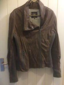 Leather Jacket Ladies Large