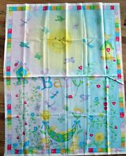 "1 Adorable ""Garden Baby"" Cotton Fabric Quilting/Wallhanging Sewing Panel"