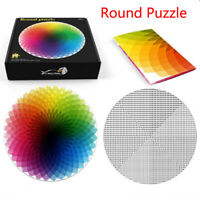 Jigsaw Puzzle Rainbow Round Shape Jigsaw 500 Pieces Puzzles For Entertainment US