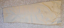 MEN'S LANDS' END TAN CHINO PANTS 36W, 25L, COTTON/ POLY,PLEATED,  NEW, NO TAG