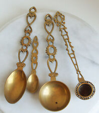 Brass Ornate Kitchen Spoon/Ladle - 2 Spoons and a candle snuffer