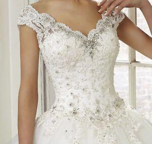 Perfect Gold Wedding Dress Bridal Custom All Size 2 4 6 8 10 12 14 16 18 20 22++