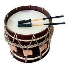 """Landsknechtstrommel / Renaissance Drum, 13,5"""" x 13,5"""", Dark Brown"""