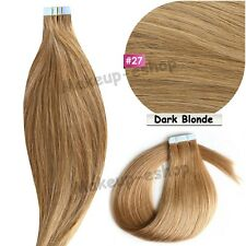 Tape in Grade 7A 100% Virgin Remy Human Hair Extensions EP 20/40pcs Skin Weft