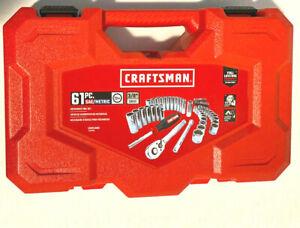 Craftsman 61-piece SAE Metric Combination Mechanics Tool Set Chrome CMMT45061