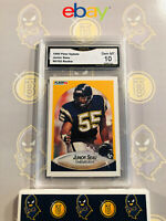 1990 Fleer Update Junior Seau #U-102 Rookie 10 GEM MINT GMA Graded Football Card